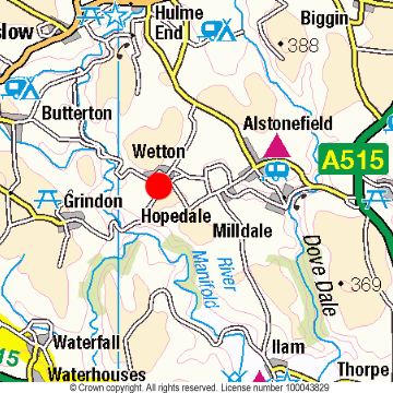 Wetton Location Map
