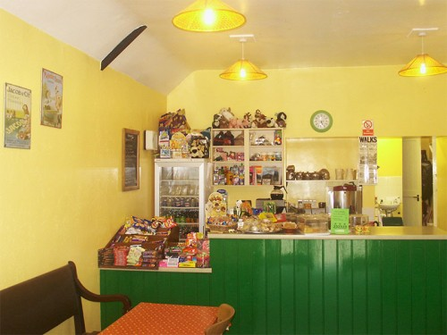 Interior of Wetton Mill Tea Room