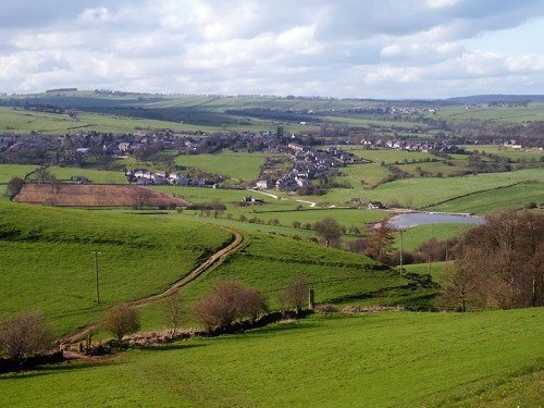 Looking down The Limestone Way to Bradford Dale and Youlgreave