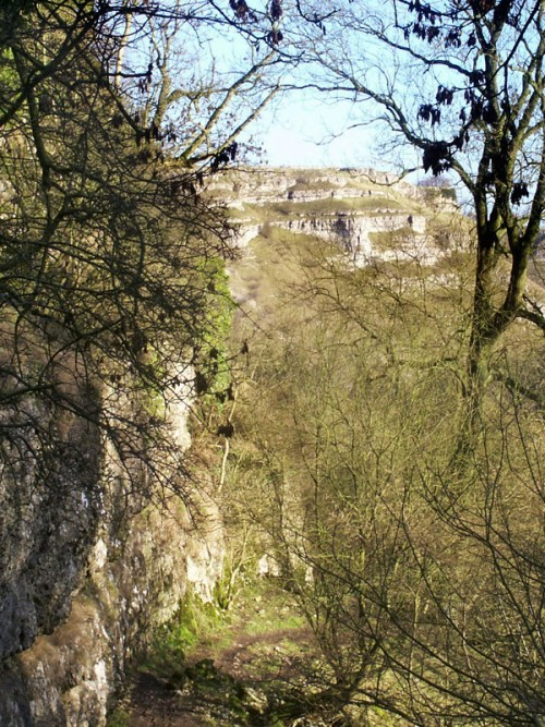 Cales Dale is short and narrow, in the distance is Lathkill Dale one of the finest limestone dales