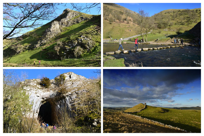 Thorpe Cloud, Stepping Stones at Dovedale, Reynards Cave and Baley Hill