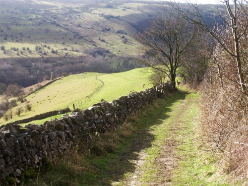 Footpath between Cressbrook and Litton Mill