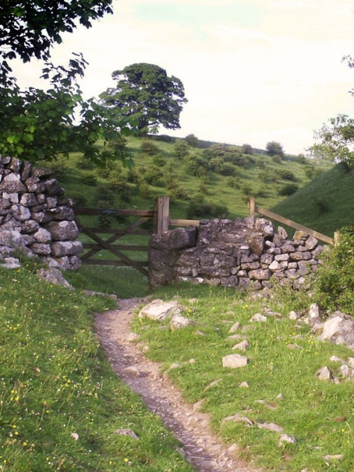 Entrance to Biggin Dale just off the River Dove