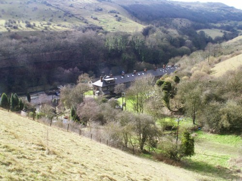 The village of Litton Mill from the Littonslack footpath