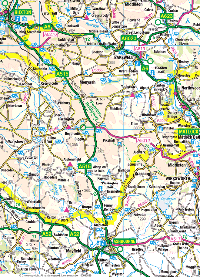Peak District Walks Map - White Peak