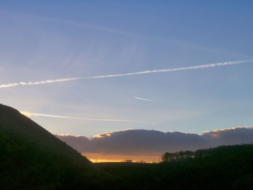Sunset over Monsal Dale from Monsal Head