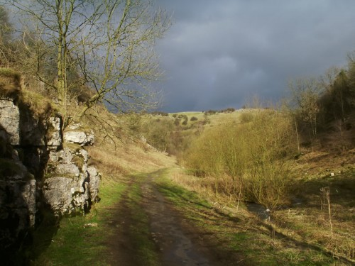 Storm clouds over Tideswell Dale