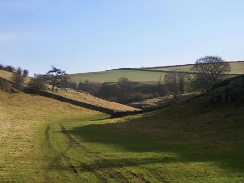 Gently rolling slopes on the upper section of Lathkill Dale
