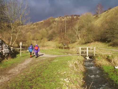 Walkers in Tideswell Dale
