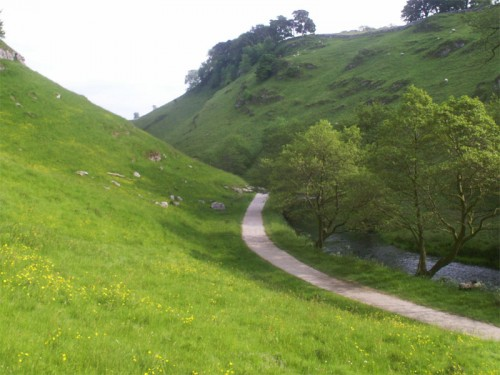 Surfaced path at the start of Wolfscote Dale